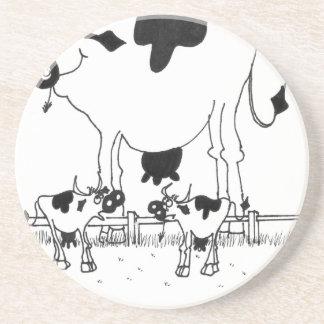 Posavasos De Arenisca Dibujo animado 3372 de la vaca