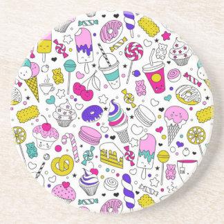 Posavasos De Arenisca Dibujo animado dulce del bosquejo de la diversión
