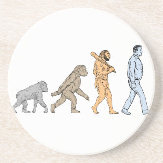 Posavasos De Arenisca Dibujo que camina de la evolución humana
