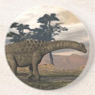 Posavasos De Arenisca Dinosaurio del Ampelosaurus