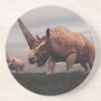 Posavasos De Arenisca Dinosaurios del mamífero de Elasmotherium - 3D