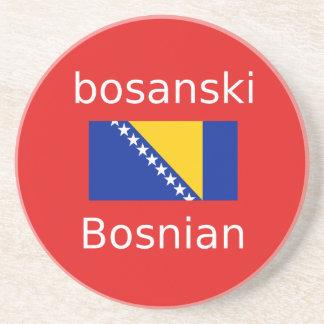 Posavasos De Arenisca Diseño bosnio de la lengua