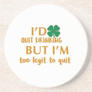 Posavasos De Arenisca Diseño de consumición del día de St Patrick