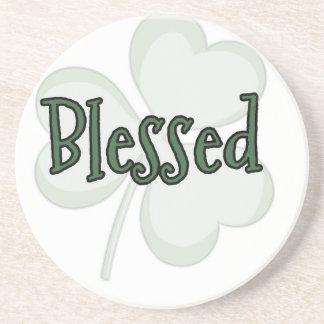 Posavasos De Arenisca Diseño del día de St Patrick bendecido