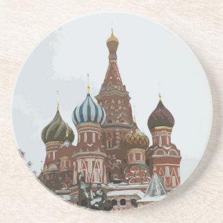 Posavasos De Arenisca El cathedral_russo de la albahaca del santo