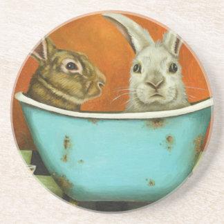 Posavasos De Arenisca El cuento de dos conejitos