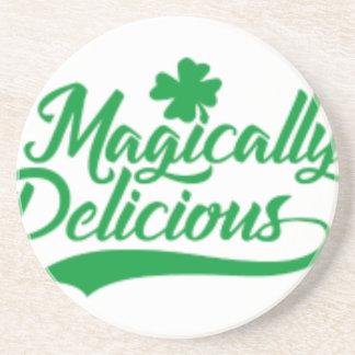 Posavasos De Arenisca El día de St Patrick mágico delicioso