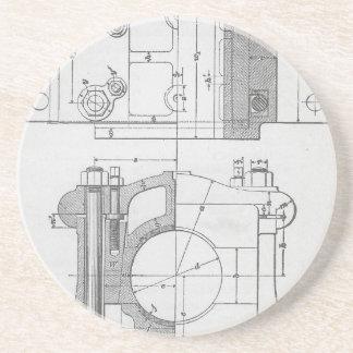 Posavasos De Arenisca El gráfico del mecánico industrial del vintage