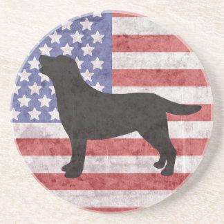Posavasos De Arenisca Esquema patriótico 4to de Labrador del práctico de
