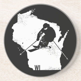 Posavasos De Arenisca Esquí Wisconsin