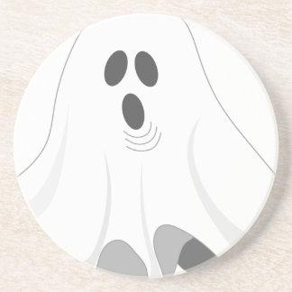 Posavasos De Arenisca ¡Fantasma de Halloween - ABUCHEO!