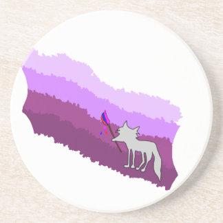 Posavasos De Arenisca Fox de colores