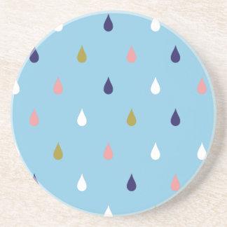 Posavasos De Arenisca Gotas de lluvia felices