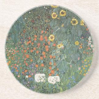 Posavasos De Arenisca Gustavo Klimt - flores de los girasoles del jardín