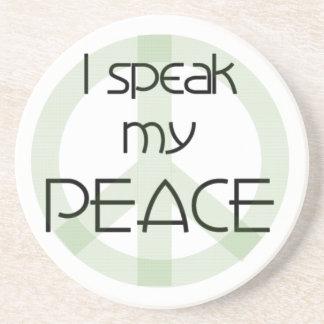 Posavasos De Arenisca Hablo mis camisetas y regalos de la paz