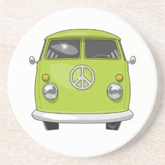 Posavasos De Arenisca Hippie 1960 Van