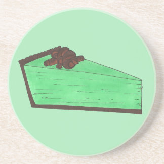Posavasos De Arenisca Hornada verde de Foodie de la rebanada de la