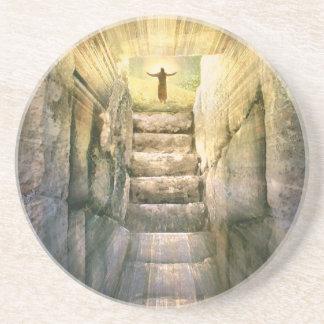Posavasos De Arenisca Jesús en la resurrección vacía de Pascua de la
