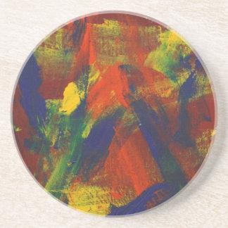 Posavasos De Arenisca Jubileo abstracto de la pintura 31