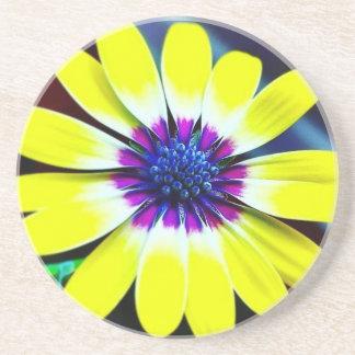Posavasos De Arenisca La belleza de amarillo y de la púrpura