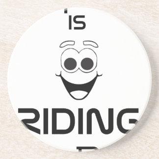 Posavasos De Arenisca La felicidad está montando mi bici