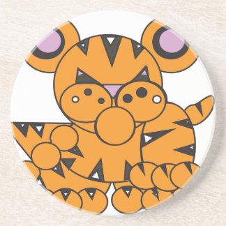 Posavasos De Arenisca La forma hizo el tigre