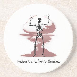 Posavasos De Arenisca La guerra nuclear es mala para el negocio