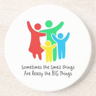 Posavasos De Arenisca Las pequeñas cosas son realmente las cosas grandes