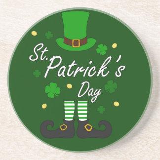 Posavasos De Arenisca Leprechaun del St Patricks