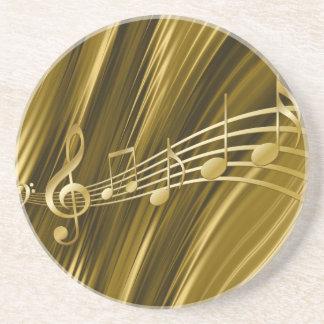 Posavasos De Arenisca Llave de oro del violín