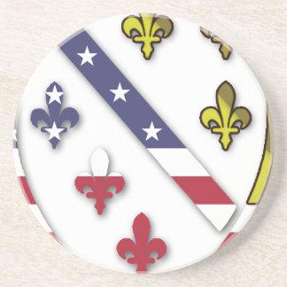 Posavasos De Arenisca Logotipo de encargo claro del diseño de la bandera