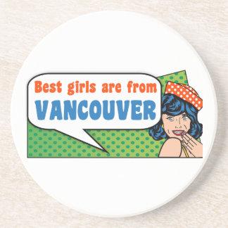 Posavasos De Arenisca Los mejores chicas son de Vancouver