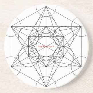 Posavasos De Arenisca mi caja es… El cubo de Metatron
