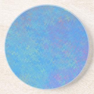 Posavasos De Arenisca Mirada hermosa del papel veteado del azul