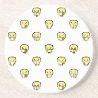 Posavasos De Arenisca Modelo enojado del gráfico de Emoji