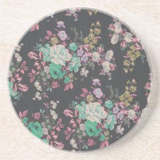 Posavasos De Arenisca modelo floral del tema de las flores elegantes del