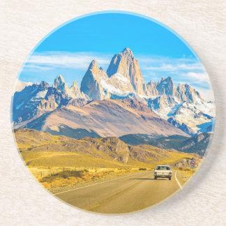 Posavasos De Arenisca Montañas Nevado los Andes, EL Chalten, la