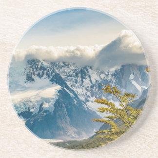 Posavasos De Arenisca Montañas Nevado los Andes, EL Chalten la Argentina