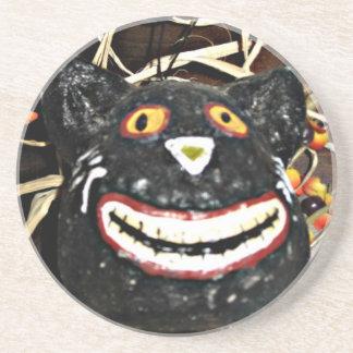Posavasos De Arenisca Mueca del gato negro