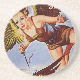 Posavasos De Arenisca Mujer del vuelo
