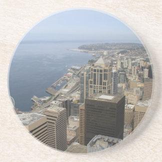 Posavasos De Arenisca Opinión de Arial de Seattle