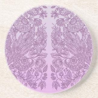 Posavasos De Arenisca Ornamento rosado polvoriento