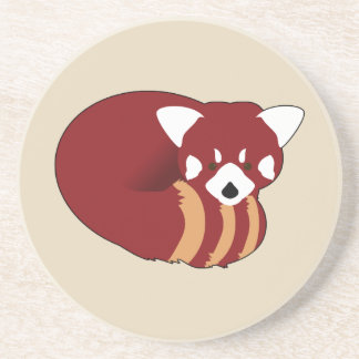 Posavasos De Arenisca Panda roja