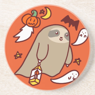 Posavasos De Arenisca Pereza del fantasma de Halloween