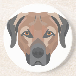 Posavasos De Arenisca Perro Brown Labrador del ilustracion