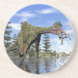 Posavasos De Arenisca Pesca del dinosaurio del Deinocheirus - 3D rinden
