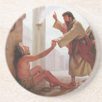 Posavasos De Arenisca Peter cura al práctico de costa cojo de la piedra