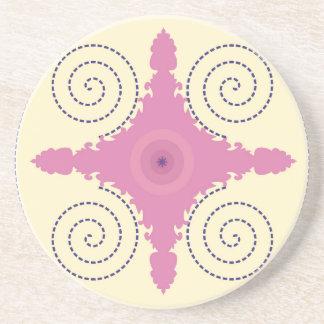 Posavasos De Arenisca Plantilla circular del adorno del diseño para el