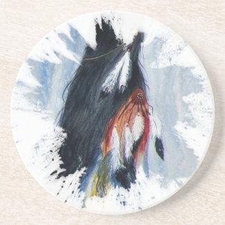 Posavasos De Arenisca Plumas de Eagle de la acuarela
