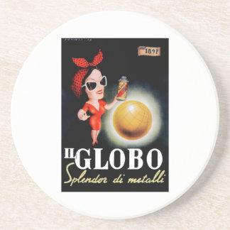 Posavasos De Arenisca Poster italiano 1949 de la publicidad de IL Globo